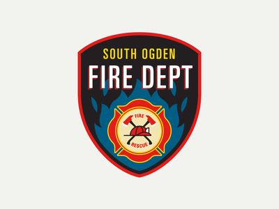 South Ogden Fire Dept. Patch (1) embroidery city department patch fire utah ut ogden south