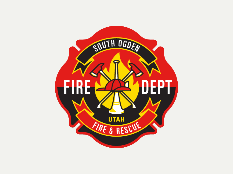 South Ogden Fire Dept Patch 2 Embroidery City Department Utah Ut