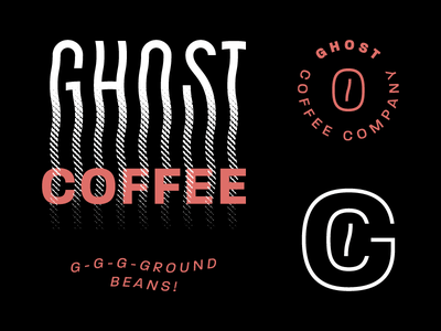 GCC Brand coffee ghost mark ut icon monogram illustration halloween black