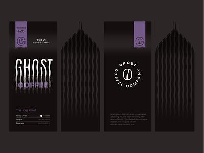 Ghost Coffee Packaging_v2 branding logo package black packaging mockup packaging coffee ghost