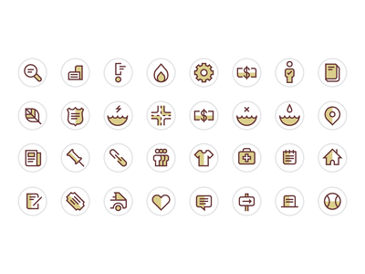 Eagle Mountain City Website Icons ux ui design vector iconset icons website city mountain eagle