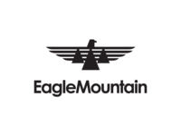 Eagle Mountain City Unused Logo 2 city brand bird wings fly black mountain eagle utah icon logo