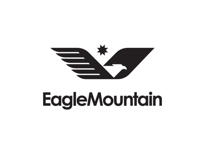 Eagle Mountain City Unused Logo 3 design illustration eagle utah city mark bird fly brand logo mountain eagle logo