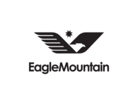Eagle Mountain City Unused Logo 3 design illustration eagle utah city mark bird fly brand logo mountain eagle logo