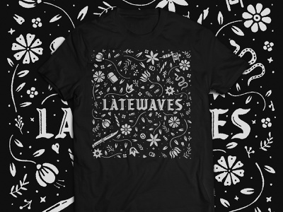 latewaves shirt music band tshirt apparel branding texture print vintage typography retro icon design art illustration