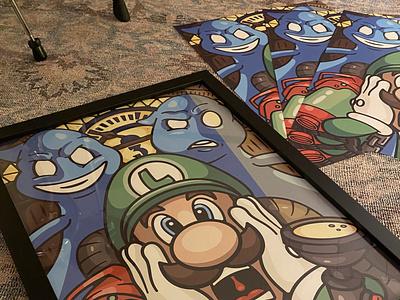 luigi's mansion 3 18x24 poster 3 game ghost luigi mario cartoon design character art vector logo illustration