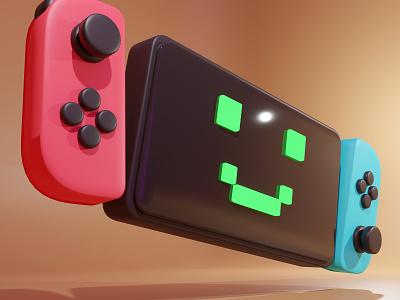 Switch 3dart blender 3d nintendo character design art illustration illu