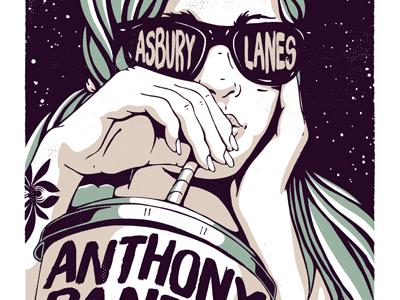 Anthony Raneri Asbury Lanes gig poster