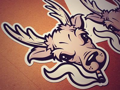 old deer sticker