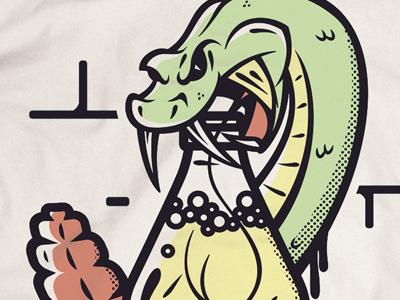 Thirsty Snake Shirt Graphic