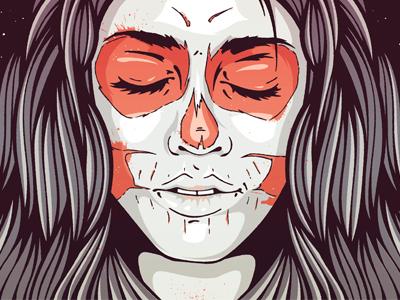Skull Girl Poster