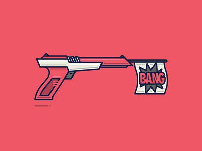 Zap controller video games logo vector bang zapper gun nintendo illustration