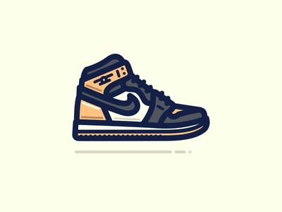 Shattered Backboard logo feet foot jordan air jordan nike shoe sneaker art vector illustration
