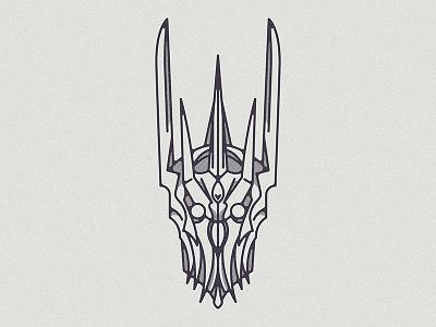 Nameless death king helmet armor fantasy hobbit sauron lotr lord of the rings illustration