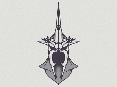Hollow armor wraith crown king helmet witch witch king sauron death lotr lord of the rings illustration