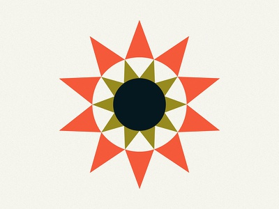 Sun hex logo sun logo icon sun illustration