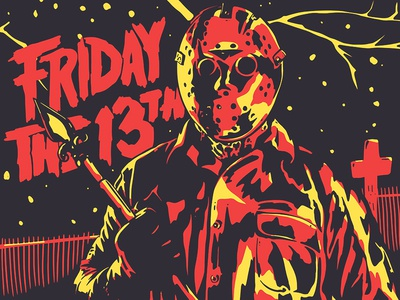 Look out Tommy Jarvis logo typography death graveyard slasher suspense horror friday the 13th vorhees jason apple pencil apple procreate design icon art character illustration
