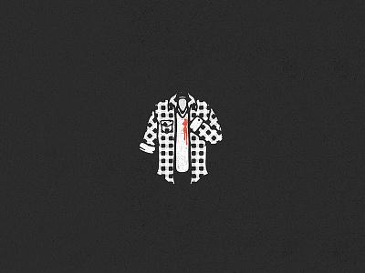 Ouch flannel plaid blood shirt texture print vintage design retro icon art logo illustration