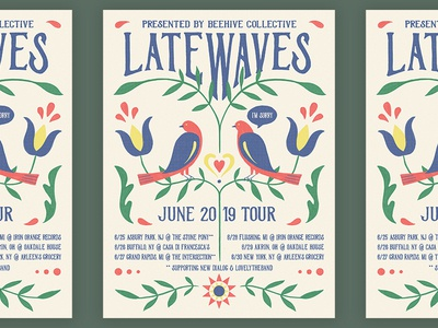 Latewaves tour poster