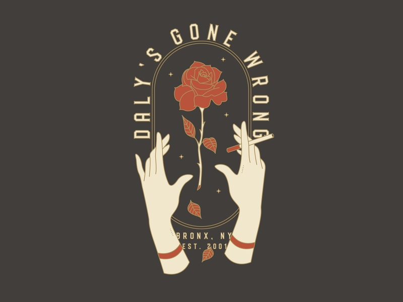 daly's gone wrong shirt hands flower rose tshirt shirt merch band merch band print design icon art vector logo illustration