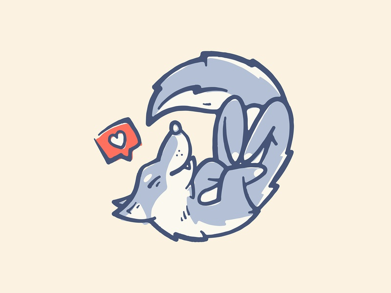 Doge puppy pup wolf emoji dog print vintage retro design character icon art vector logo illustration