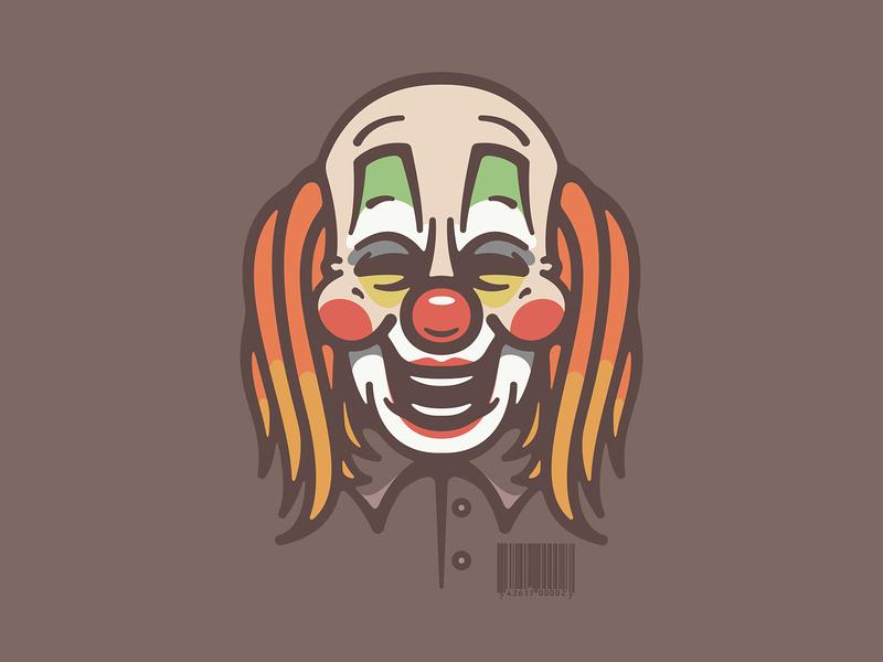 6 horror mask scary slipknot clown metal band design icon character art logo vector illustration