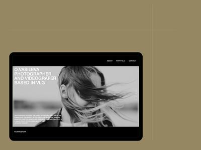 O.Vasileva - Photographer's website design