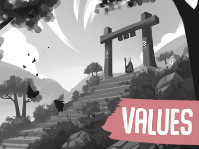 Painting with values tutorial valuetutorial values concept art sketch draw drawing illustration digitalpaintingtutorial digitalpainting tutorial arttutorial