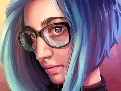 Portrait character design draw drawing illustration procreate digital painting portrait