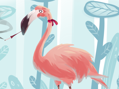 Lady flamingo