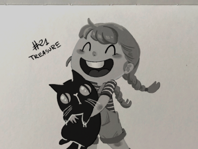 Inktober day 21 - treasure treasure animation inktober sketchbook concept art character draw sketch character design drawing illustration