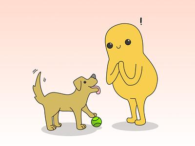 Yer jus like mee dog vector cute design character design cartoon illustration