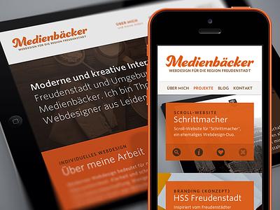 "Responsive ""Medienbäcker"" agency website web webdesign baker personal responsive mobile"