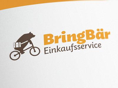 BringBär Shopping Service bear bag bike branding logo