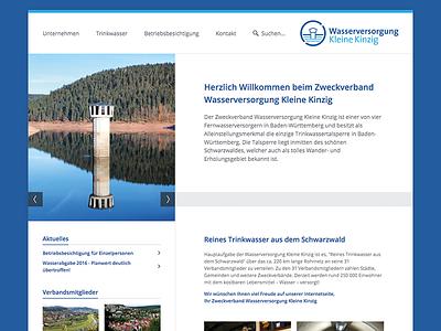 ZVWKK website desktop slider homepage flat clean menu layout webdesign website web