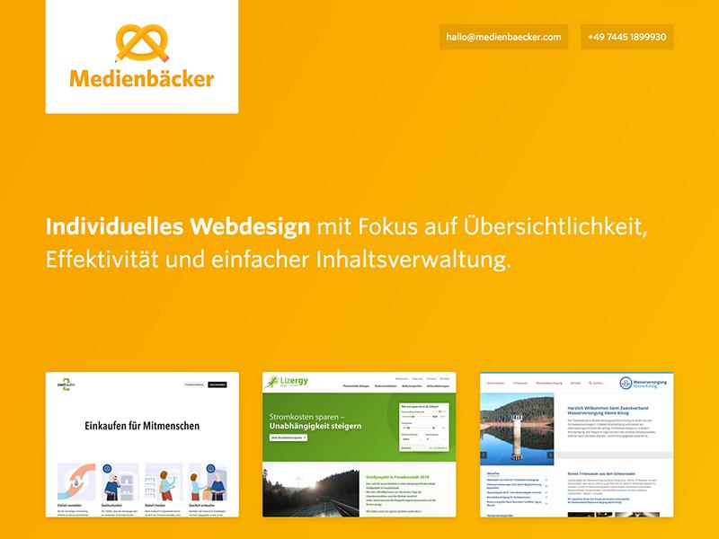 Medienbäcker website web website webdesign