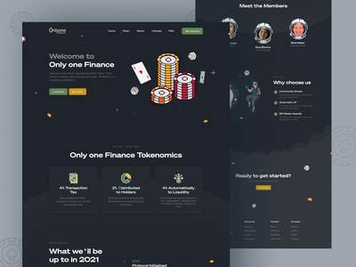 Onlyone - gambling crypto tokens Website 3d gaming cryptocurrency best gambling cryptocurrency crypto crypto tokens branding illustration gambling crypto tokens ui ux and graphic elements typography