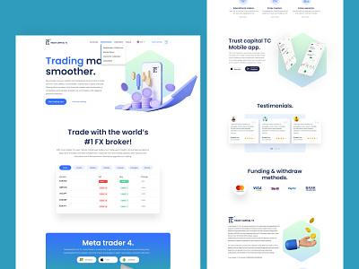 Forex broker company in uae - website redesign design ui 3d illustration ux landing page graphic elements forex trading forex broker website redesign work