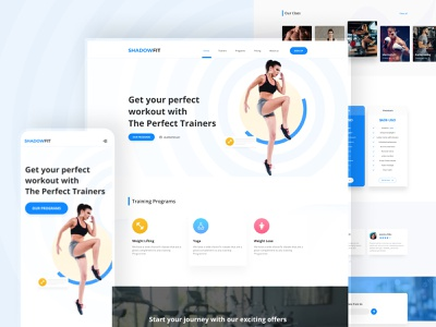 Workout website graphic design ui training app workout tracker workout itness exercise gym