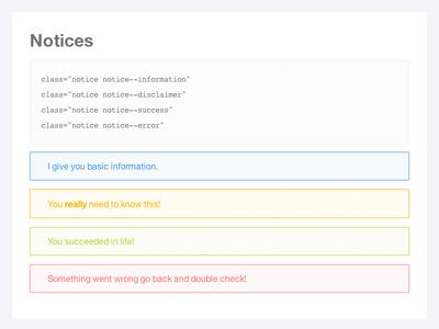 Notices stylesheet