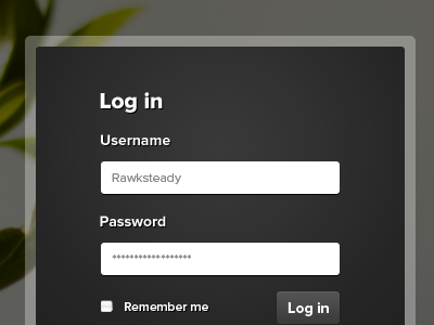 Log in form modal form log in sign in