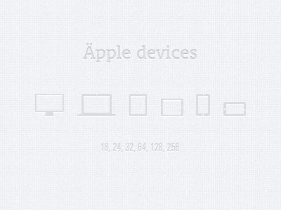 Äpple devices freebie psd devices glyphs icons png shapes monitor laptop smartphone tablet