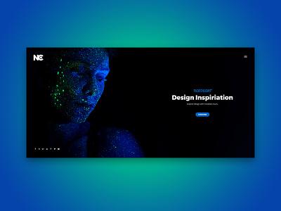 Hold portfolio dark black green blue specialist page under construction intro design theme html template coming soon