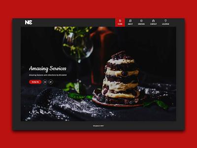 Acute Restaurants Template cake food hotel restaurants