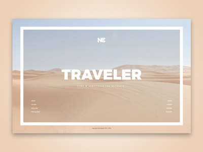 Traveler Vibe web ui design ui template promotion product launch minimal site maintenance info site traveler coming soon travel