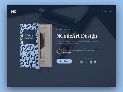 Book Offer cart shop popup minimal typography dark web design countdown clock creative offer design ui website book