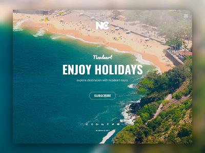 Travel Web template coming soon travel web layout minimal site web design ui ui design creative ncodeart nc