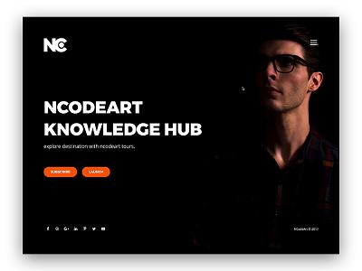 Dark Web Design corporate agency dark theme dark ui web ui minimal site web design ui design creative ncodeart nc