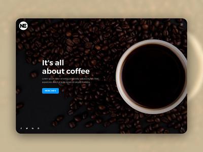 SledeShow Coffee Web Template inspiration trending website design fullscreen ui layout web minimal site web design ui design template creative
