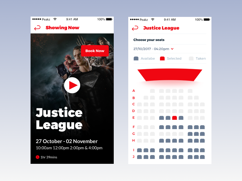 Cinema Booking App mockup motion mobile ux africa ghana ui inspiration ui interaction movie booking cinema booking app uidesign uxdesign ui app cinema movies